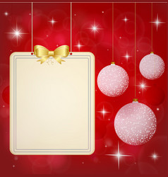 christmas background banner with festive vector image