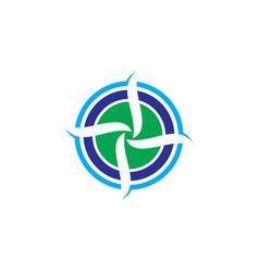 circle aero logo vector image