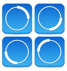 Circular preloader buffer shapes symbols 4 step vector