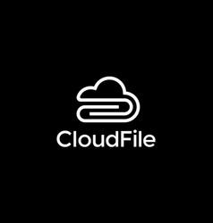 cloud file logo design concept vector image