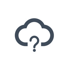 cloud with qestion mark not available concept vector image