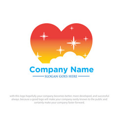 comfort love sleep logo designs vector image