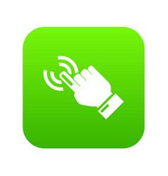 cursor hand icon simple black style vector image