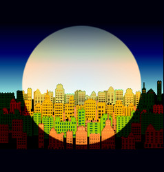 Day and night in a modern city vector