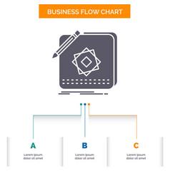 design app logo application design business flow vector image