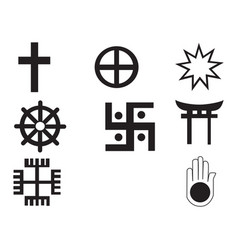 different religions symbols vector image