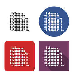 dotted icon oil storage tank in four variants vector image