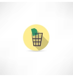 dustbin icon vector image