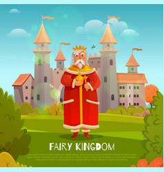 Fairy kingdom vector