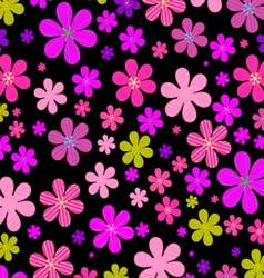Flower fields vector