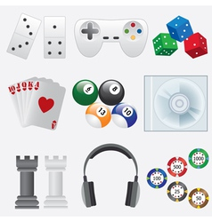 Games set vector image