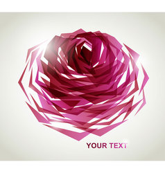 Geometric rose vector