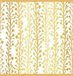 gold foil nature background seamless vector image