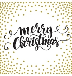 Hand drawn typography card Merry christmas vector image