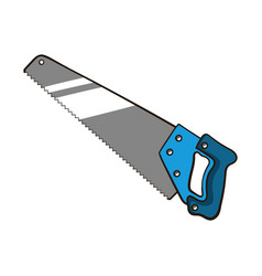 hand saw isolated on white vector image