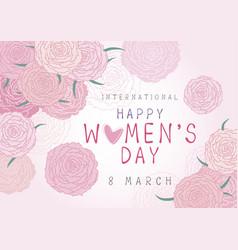 happy 8 march international womens day design vector image vector image