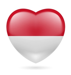 Heart icon of Indonesia vector