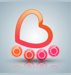 Hearts valentines day roller icon vector
