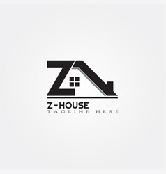 House icon template with z letter home creative vector