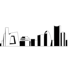 isolated beijing cityscape vector image