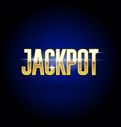 Jackpot golden inscription - casino and big win vector