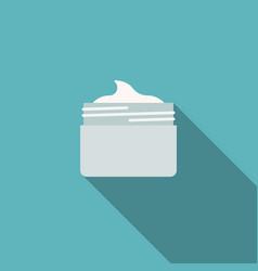 Jar cosmetic cream icon vector