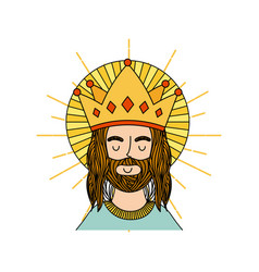 Jesuschrist man icon vector