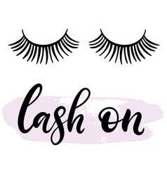 lashes lettering vector image