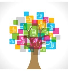 Like symbol make a tree vector