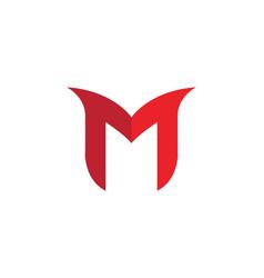 M letter logo template design royalty free vector image altavistaventures Image collections