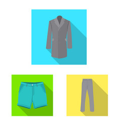 man and clothing sign vector image