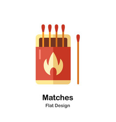 Matches flat icon vector