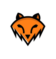orange wolf abstract template logo design simple vector image