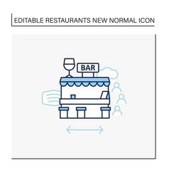 Outdoor bar line icon vector
