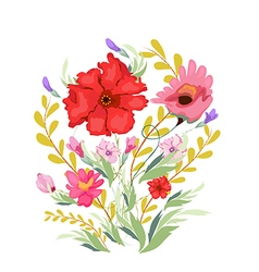 Paint Watercolor Flowers vector