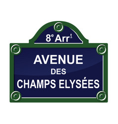 Paris street avenue plate sign symbol vector