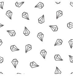 pattern with diamonds white background vector image