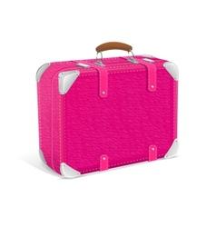 Pink trawel suitcase vector