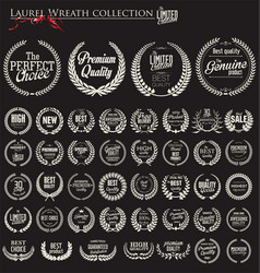 Premium quality laurel wreath collection 1 vector