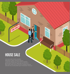 Real estate agency isometric vector