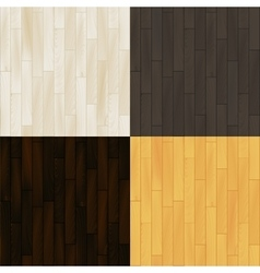 Realistic wooden floor parquet seamless patterns vector image