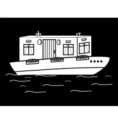 River house white black water transport vector
