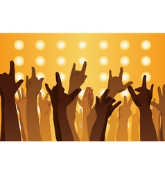 Rock concert Hands up vector