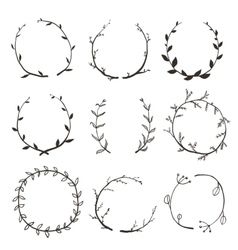Rustic Laurel and Wreath Collection for Design vector