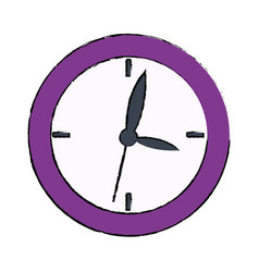 School clock hour time watch icon vector