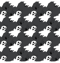 Seamless pattern with white ghosts vector