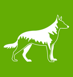 shepherd dog icon green vector image