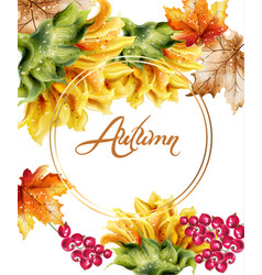Sunflowers card watercolor autumn fall floral vector