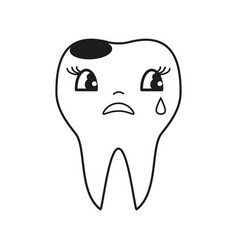 teeth cry icon vector image