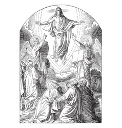The ascension of christ vintage vector